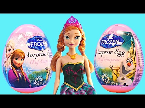 2015 Frozen Disney Eggs 6 New Princess Surprise Egg Toys Barbie Doll Anna Princesa Huevos Sorpresa