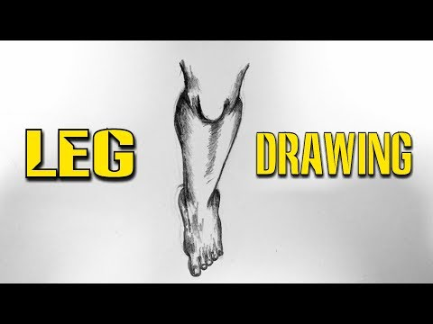 How To Draw Human Leg In Unique Way... Step By Step