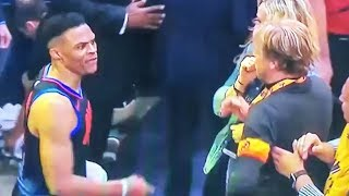 Russell Westbrook Fights Fan After Playoff Loss To Jazz