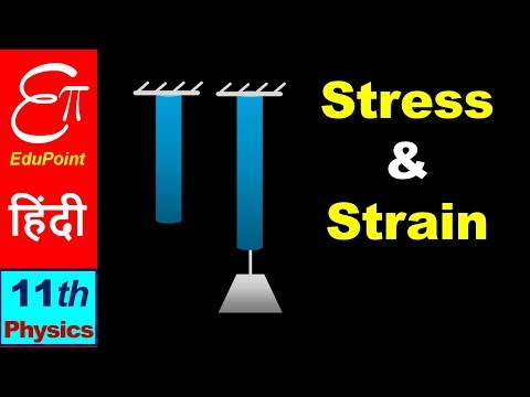 🔴 Elasticity - 2 || STRESS and STRAIN || in HINDI for Class 11