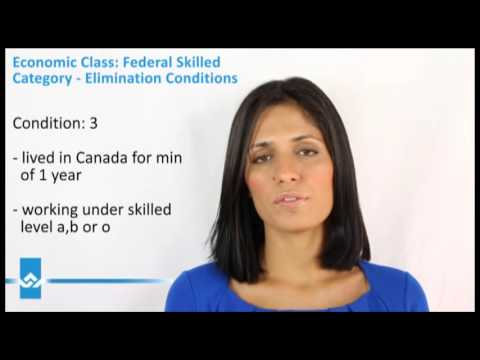 Federal Skilled Category Elimination Conditions Video