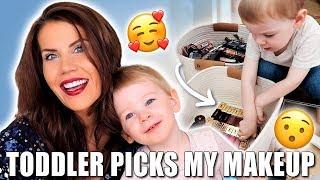 TODDLER PICKS MY MAKEUP by Glam Life Guru