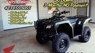 3. 2016 Foreman RUBICON 500 DCT Video Review of Specs : TRX500FA5 ATV SALE - TN / GA / AL area Dealer
