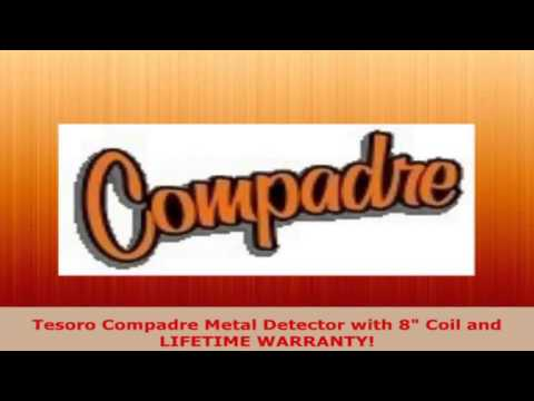 Tesoro Compadre Metal Detector with 8 Coil and LIFETIME WARRANTY