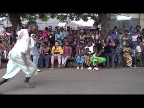 """""""African Dance"""": """"HD"""" Dundunba #5 Community  African Drum and Dance party in Guinea, West Africa"""
