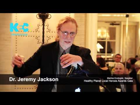 Dr.Jeremy Jackson, Marine Ecologist, at the Healthy Planet Local Heroes Awards Gala