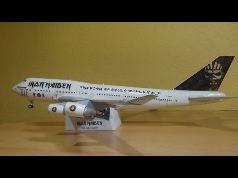 Iron Maiden Ed Force One 747-400 Papercraft