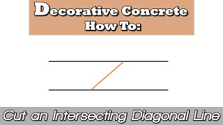 Decorative Concrete How To:  Cut an Intersecting Diagonal Line