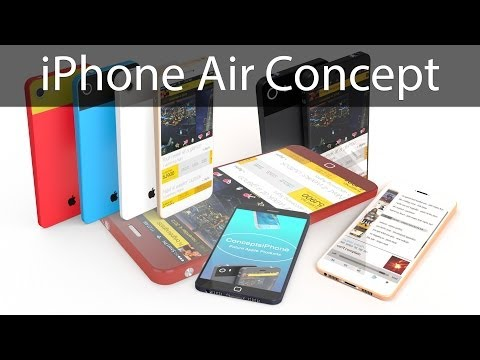 redmondpie - New amazing iPhone Air concept from brightknight08 ( Video by Ran Avni ) shows all-new design, new buttons, option to customize the colors of the iPhone, 4.6...
