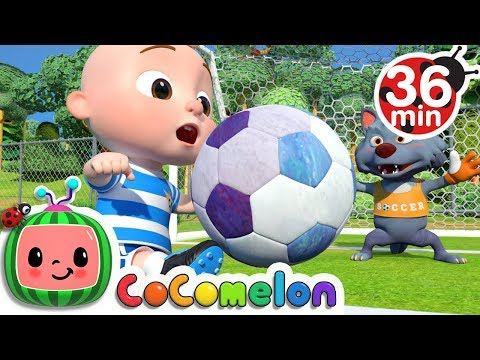 The Soccer (Football) Song + More Nursery Rhymes & Kids Songs - CoCoMelon