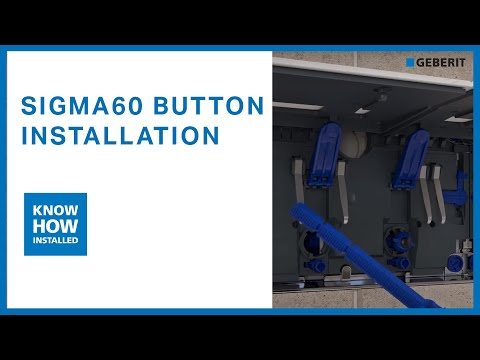 Geberit Sigma60 button installation