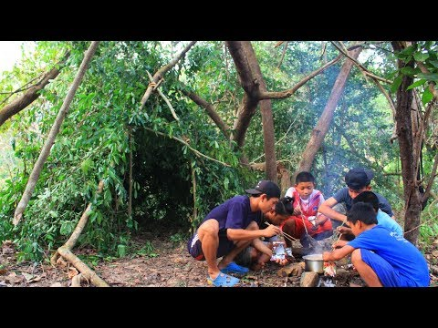 สร้างบ้านพัก เอาชีวิตรอด 24 ชม.ในป่าลึก