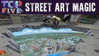 Video Top 5 AMAZING Street Art Magic MP3, 3GP, MP4, WEBM, AVI, FLV Desember 2018