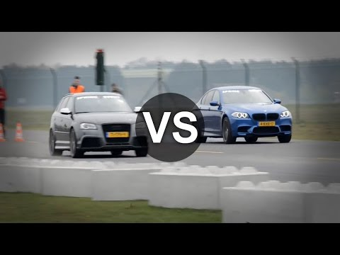Audi RS3 Vs Corvette C6, BMW M5 F10 Drag Race