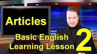 Basic English Learning Lesson 2 - Articles-Learn English With Steve Ford  - Parallel 1