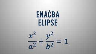 Enačba elipse