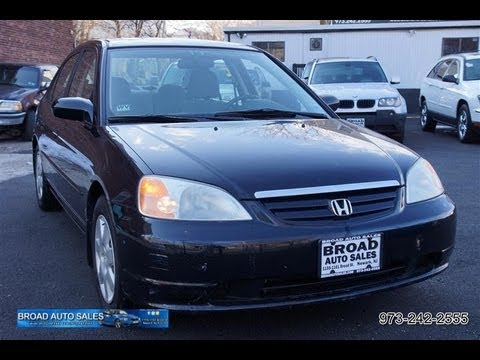 2002 honda civic ex sedan - Broad Auto Sales 1155-1161 Broad Street Newark, New Jersey 07114 Telephone: 973-242-2555 http://www.broadautosales.com.