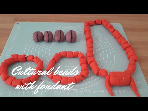 HOW TO MAKE FONDANT CORAL BEADS |  KOLA NUT