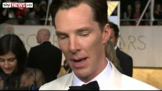 Nonton Oscars 2015  Benedict Cumberbatch Trying To Keep Calm   22 02 2015 Film Subtitle Indonesia Streaming Movie Download