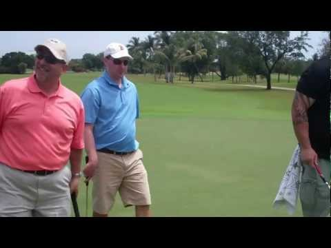 Brodus Clay At WWE WrestleMania Pro-Am Golf Miami (Part 6)