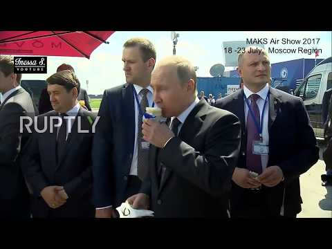 Putin jokes: You can buy your own ice cream! - MAKS Air Show 2017