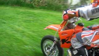 2. Darragh on his new KTM sx 50 pro jr