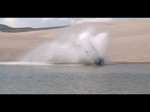 Polaris Rzr XP 900 Turbo bashing in Idaho Dunes