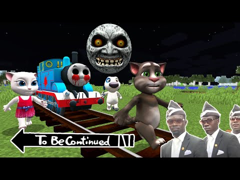 Thomas THE TANK ENGINE.EXE vs TALKING TOM vs SCARY MOON in Minecraft - Coffin Meme Lunar Moon