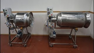 Видео: Массажеры вакуумные для мяса на 100 и 200 литров ИПКС-107-100(Н) и ИПКС-107-200(Н).