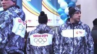 Встреча олимпийского огня в Хабаровске