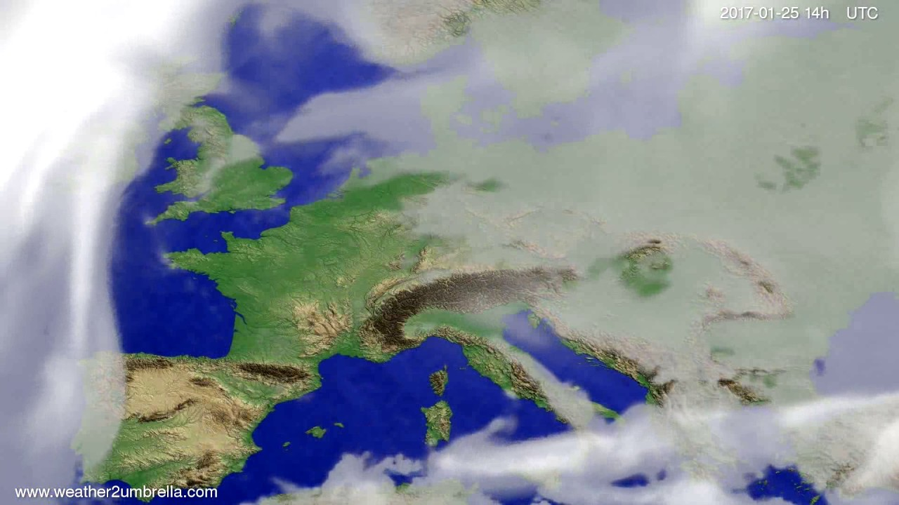 Cloud forecast Europe 2017-01-21
