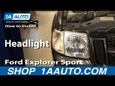 How To Install Replace Headlight Ford Explorer Sport Trac 01-05 1AAuto.com