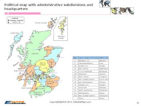 Scotland Editable Map