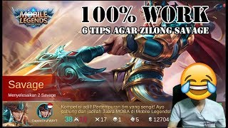 "Video 6 Tips Agar Zilong ""SAVAGE"" 100% Work | Mobile Legends MP3, 3GP, MP4, WEBM, AVI, FLV Oktober 2017"