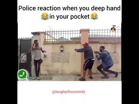 Police reaction when you deep hand in your pocket (LaughPillsComedy)