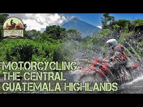 Motorcycle Riding the Central Guatemala Highlands on Honda XRs