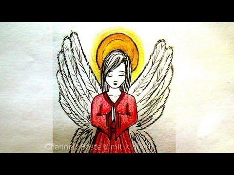 Engel zeichnen – Zeichnen lernen – Weihnachtsengel