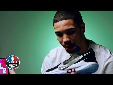 Video: Jayson Tatum talks Nike Adapt BB auto-lacing sneakers, Celtics' road to the playoffs | NBA Countdown