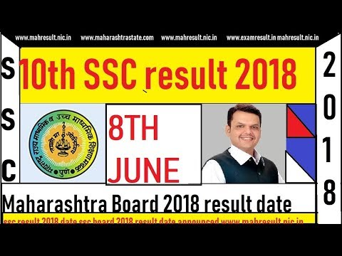 10th SSC Result 2018|Maharashtra Board|Date DECLARED