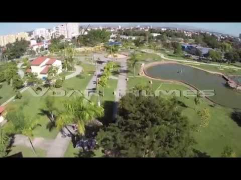 Clipe com imagens aéreas do Parque das Águas, em Resende / RJ