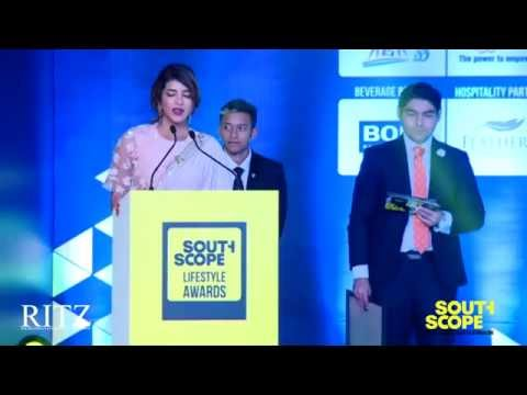 Lakshmi Manchu receives the Humanitarian Celebrity of the Year Award