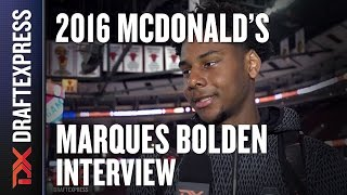 Marques Bolden - 2016 McDonald's All American Interview