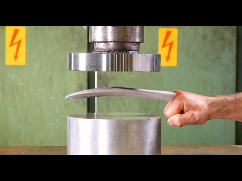超不科學!液壓機對決「金鋼狼的爪子」,結果跟你想得一不一樣!