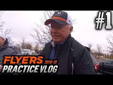 Philadelphia Flyers Practice Vlog | EP1 | MEETING BOBBY CLARKE!