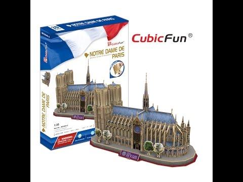 Puzzle 3D catedral de Notre Dame