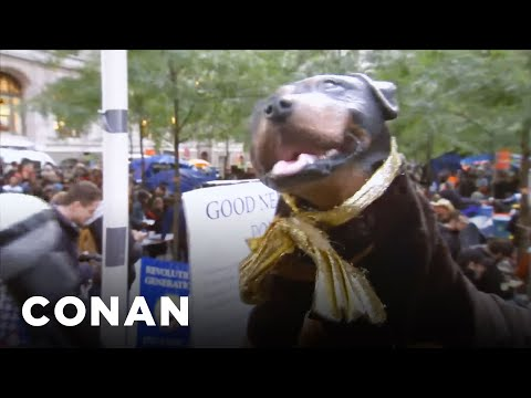 Triumph the insult comic at occupy wall street