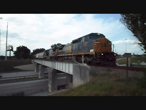CSX locomotive - This is a video I made of the same CSX freight train crossing over interstate 4 bridge in Lakeland Florida then beating it to another location in Lakeland at...