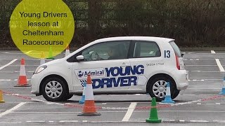Dylan had his first driving lesson with young drivers aged 12. See how he got on driving a skoda in the drizzle.