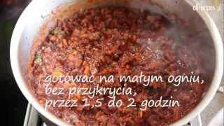 Przepis na mięsny sos