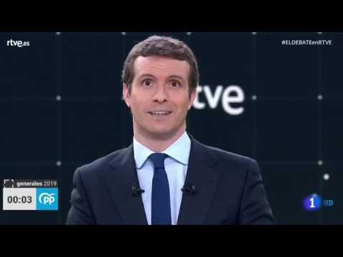 Mejores momentos de Pablo Casado en el debate de TVE